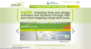 Astah Website Top Page