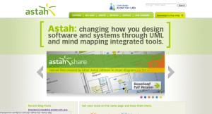 Astah Website Top Page