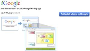 Adding Astah Viewer Gadget on iGoogle
