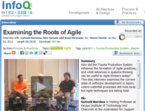 InfoQ interview at Agile2011