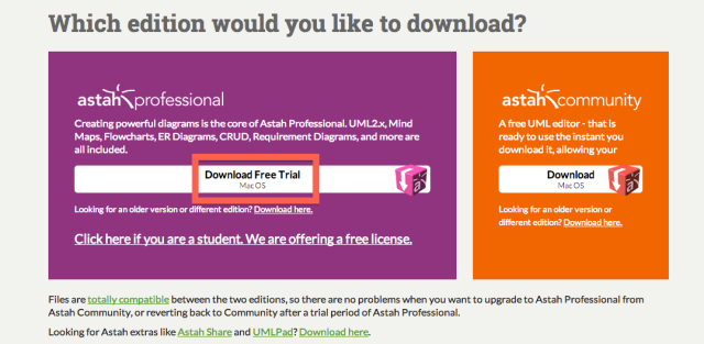 How to get a Full 50Day Free Trial of Astah Professional