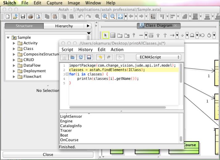 Astah Script Plug-in