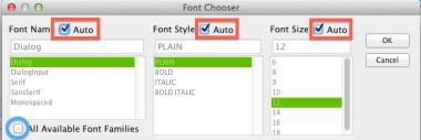 Font setting in Astah