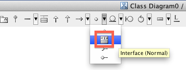 Astah UML Interface