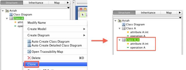 UML Model Clone Copy