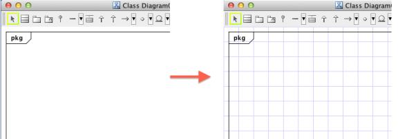 Show Grid in Astah UML