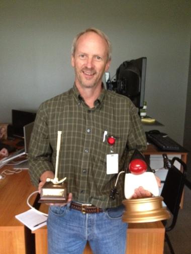 Cam with GoldenHammer Trophy!