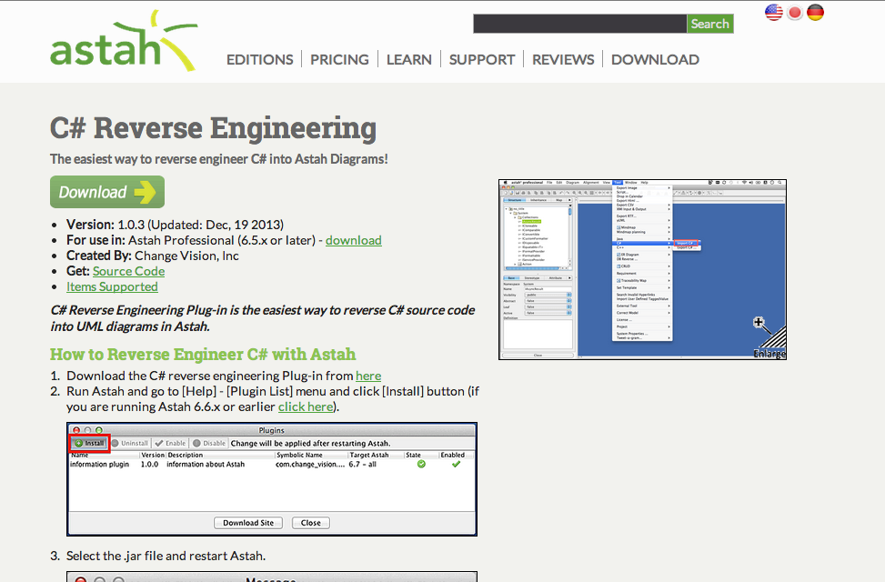 c c reverse engineering plug ins updated astah in 5min - Uml Reverse Engineering