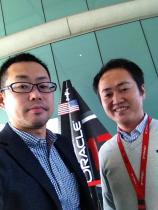 At the reception of Oracle 500(Customer Visit Center)