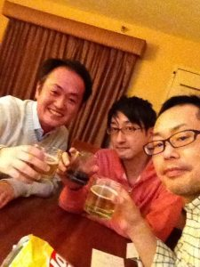 With Yusuke Suzuki, Terada, and me
