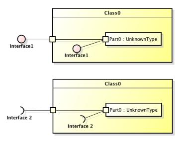 composite structure diagram   astah in min     middot  composite structure diagram  middot  delegate connector in astah