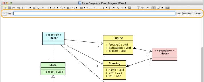 Astah, Search, UML