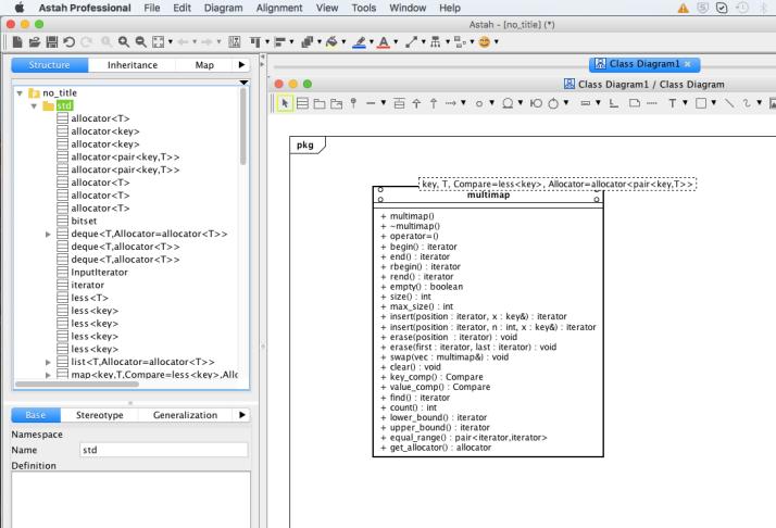 Astah C++ template