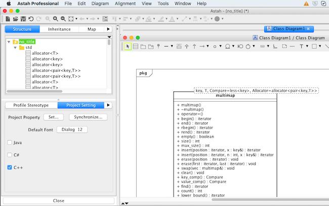 UML modeling and C++ programming language in Astah   Astah
