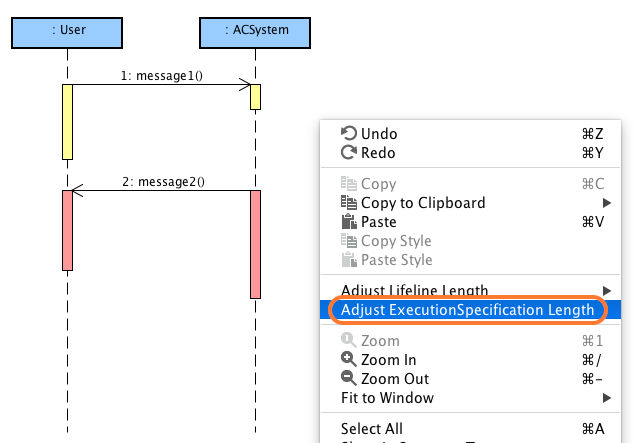 adjust lifeline and executionspecification length in uml sequence rh astahblog com lifeline sequence diagram life line diagram